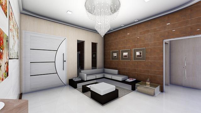 návrh interiéru, velké dveře, obývák