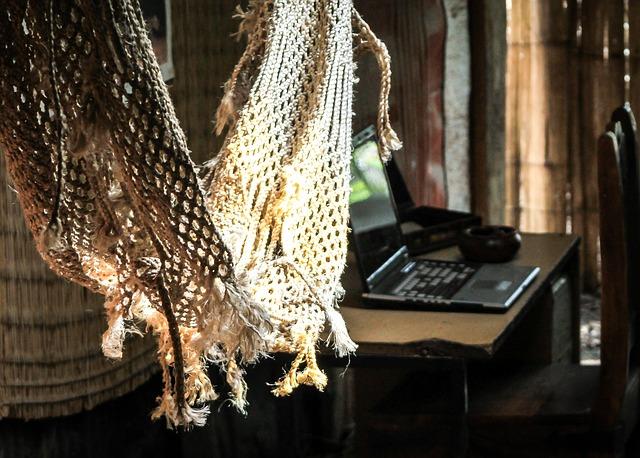 pletená hamaka