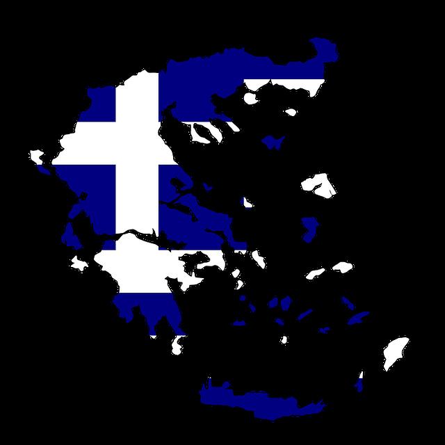 mapa řecka